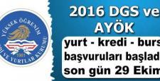 DGS ile AYÖK için KYK Yurt ve de Kredi / Burs Başvuruları Resmi Olarak Başladı!