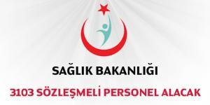 Sağlık Bakanlığı 3103 Sözleşmeli Personel Alacak